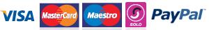 We accept Visa, Mastercard, Maestro, Solo & PayPal